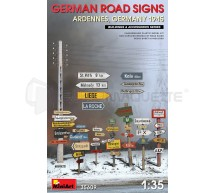 Miniart - German road signs Ardennes