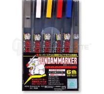 Bandai - Gundam Marker Basic 6 couleurs (GMS-105)