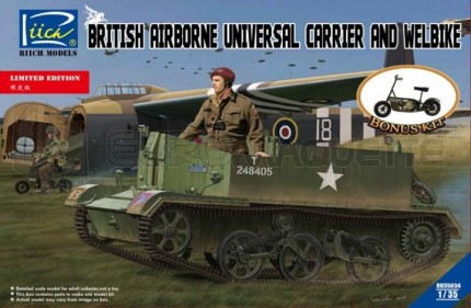Riich models - Airborne Universal carrier & Welbike