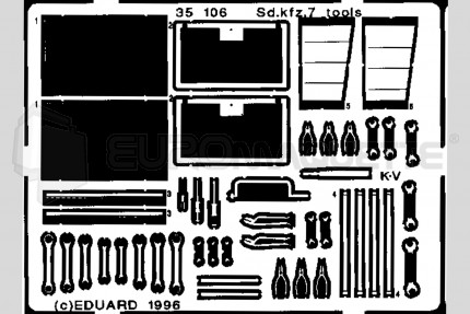Eduard - SdKfz 7  tool box (tamiya)