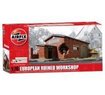 Airfix - Hangard europeen en ruine