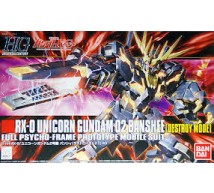 Bandai - HG RX-0 Gundam 02 Banshee Destr.Mode (0173901)