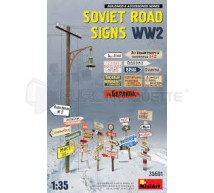 Miniart - Soviet road signs WWII