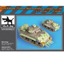 Black dog - Sherman 75mm accessories set (Tamiya)