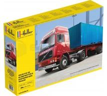 Heller - Volvo F12-20 & Container semi trailer
