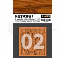 Liang model - Airbrush wood texture stencil PE (2)