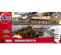 Airfix - Coffret Sherman Firefly & Tigre I