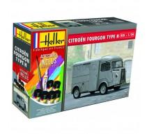 Heller - Coffret Citroen Fourgon HY
