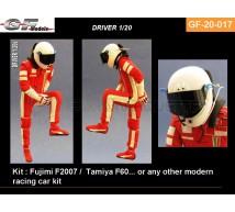 Gf Models - Pilote F1 entrant dans voiture