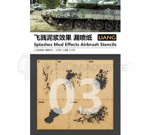 Liang model - Splashes mud effects airbruch stencils