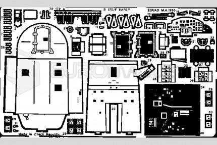 Eduard - B-17 E/F interieur  (academy)
