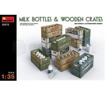 Miniart - Bouteilles de lait & caisses