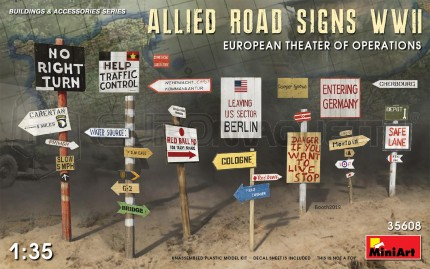 Miniart - Allied road signs WWII