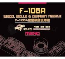 Meng - F-106A Trappes de trains & exhaust (Meng)