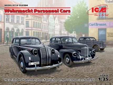 Icm - German Personnel cars (x3)