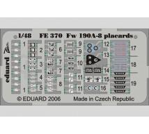 Eduard - Fw-190 Placards