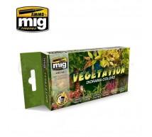 Mig products - Coffret Vegetation colors (x6)