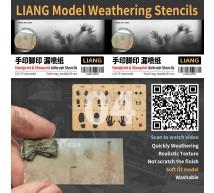 Liang model - Handprint & shoeprint aibrush stencil