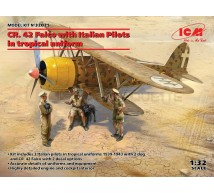 Icm - Fiat CR 42 & Italian pilots Trop