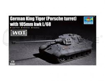 Trumpeter - King Tiger Porsche & 105mm Gun