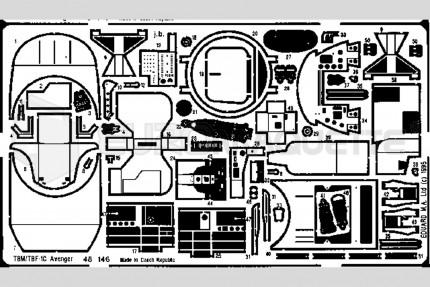 Eduard - TBM-1C Avenger int.(monog.)