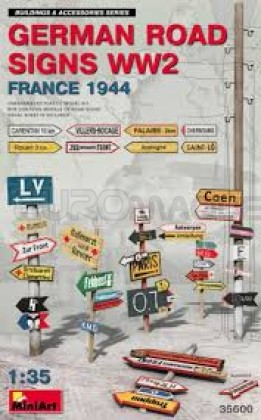 Miniart - German road signs France 1944