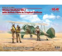 Icm - Gladiator Mk I Trop & Pilots