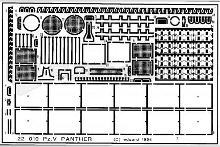 Eduard - Pz V  Panther (italeri)