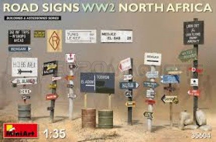Miniart - WW2 north Afica road signs