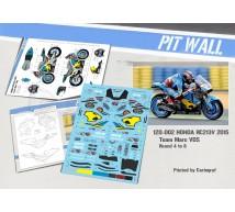 Pit wall - Déco Honda RC213V Marc VDS 2015 (Tamiya)