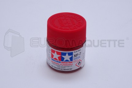 Tamiya - Rouge mat XF-7 (pot 10ml)