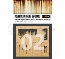 Liang model - Streaking & wet effect airbrush stencils