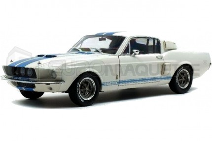 Solido - Shelby Mustang GT500 Blanche bandes bleues