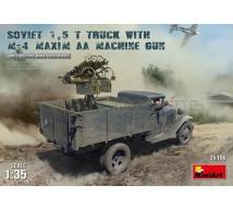 Miniart - Soviet truck & Maxim AA guns