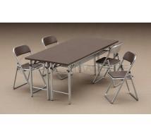 Hasegawa - Table & chaises 1/12