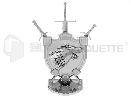 Metal eath - House Stark sigil (Iconix)