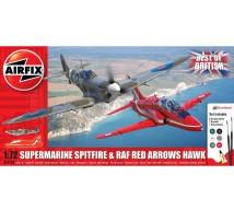 Airfix - Coffret Spitfire Mk V & Hawk Red Arrows