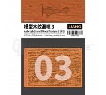 Liang model - Airbrush wood texture stencil PE (3)