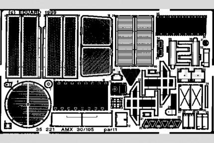 Eduard - AMX 30/105     (heller)