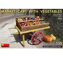 Miniart - Market cart & vegetables