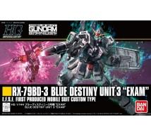 Bandai - HGUC RX-79BD-3 Blue Destiny Unit 3 (0222262)