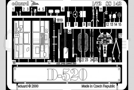 Eduard - Dewoitine D-520 (hasegawa)