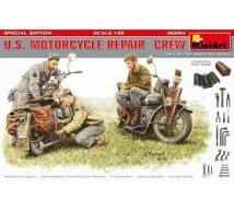 Miniart - US motorcycle repair crew & tools