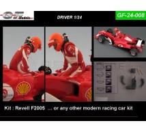 Gf Models - Pilote F1 sortant de la voiture