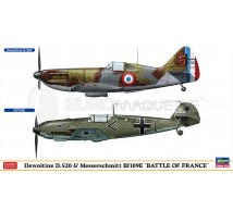 Hasegawa - Combo D-520 & Bf-109E Battle of France