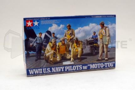 Tamiya - US Navy pilots & Moto Tug