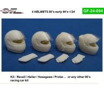 Gf models - 4 casques 1990/2000