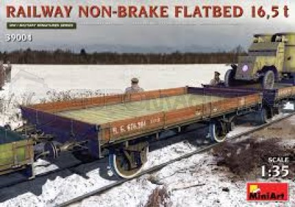 Miniart - Raiway non brake flatbed 16.5t