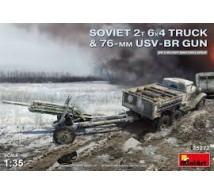 Miniart - WWII Soviet truck & 76mm Gun
