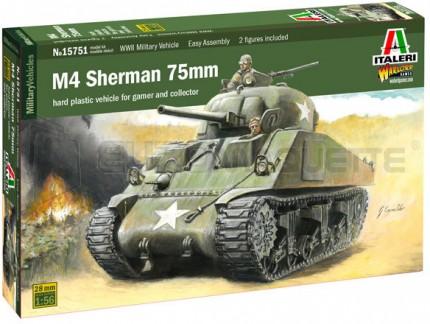 Italeri - M4 Sherman 75mm 1/56